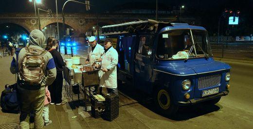 Sausages from the Blue Nysa at Hala Targowa